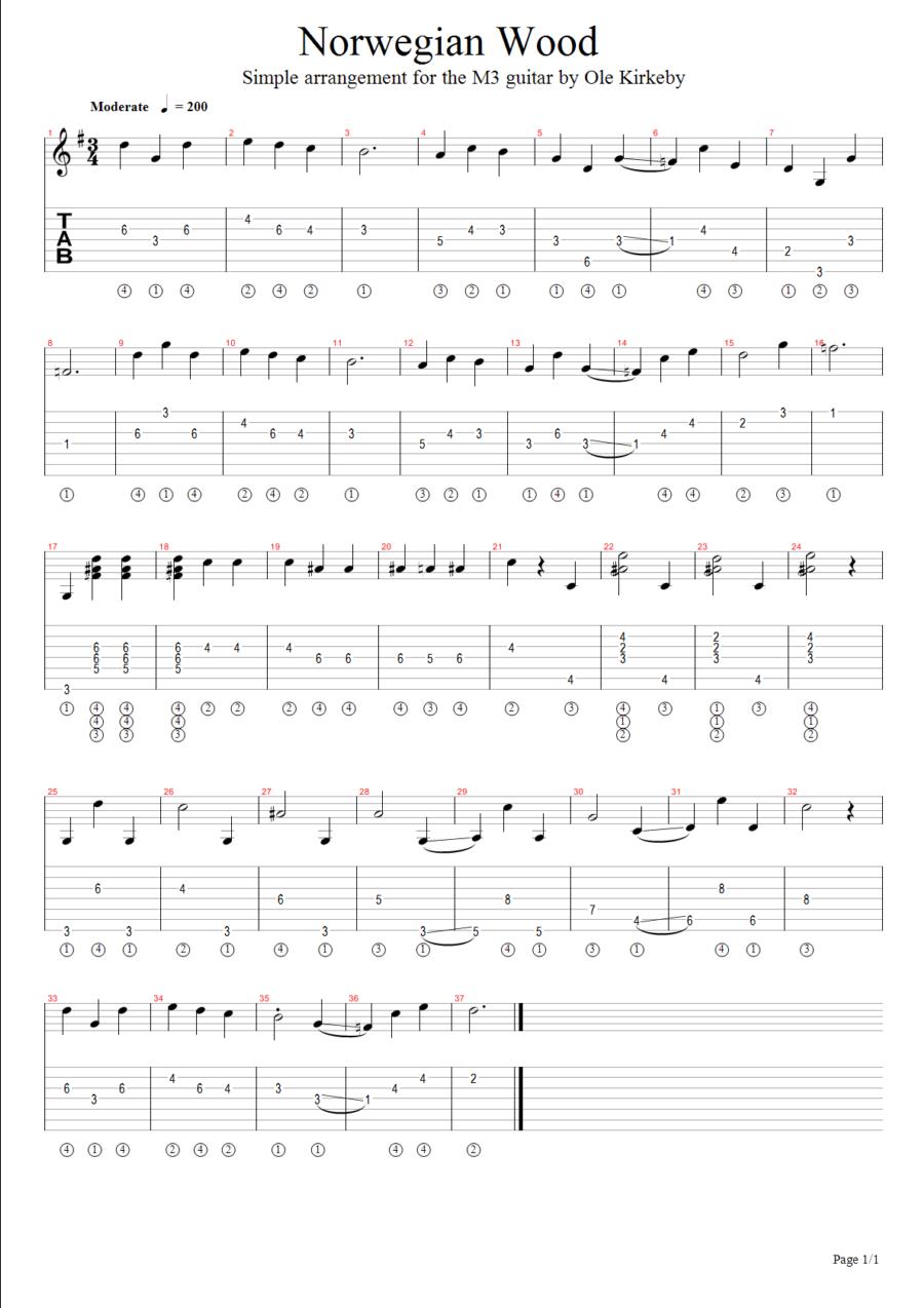 M3 Guitar 20 Solo Arrangements Examples